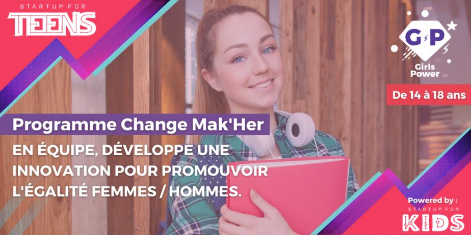 Startup For Teens - Change Mak'her