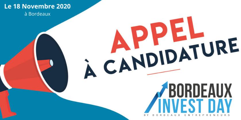 Appel à candidature Bordeaux Invest Day le 18 novembre 2020