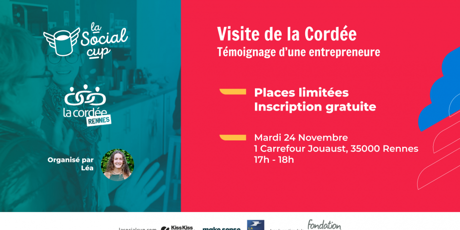 Visite de la Cordée et témoignage d'une entrepreneure sociale