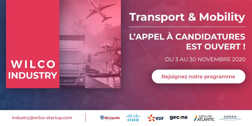 Appel à candidatures pour le programme d'accélération Transport & Mobility de WILCO