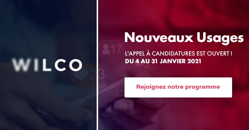 Votre startup répond aux enjeux des nouveaux usages BtoC ? WILCO lance un appel à candidatures jusqu'au 31 janvier !